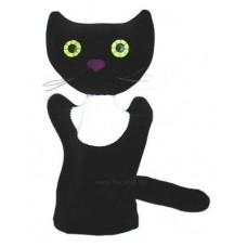 Cica kesztyűbáb felnőtt kézre