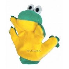 Béka kesztyűbáb gyermek kézre