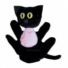 Cica kesztyűbáb gyermek kézre