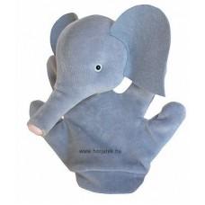 Elefánt kesztyűbáb gyermek kézre