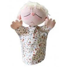 Érzelmek baba, szomorú-kesztyűbáb felnőtt kézre