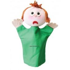 Érzelmek baba, ijedt-kesztyűbáb felnőtt kézre