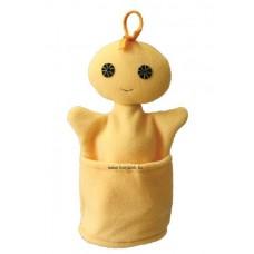 Szelektív baba, sárga (műanyag) -kesztyűbáb felnőtt kézre