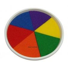 Festékpárna,szivárvány színek