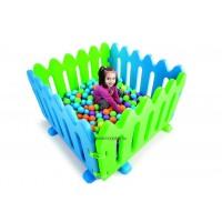 Elkerítőrács - játszókerítés, zöld