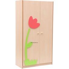 Tulipános ajtós szekrény