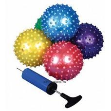 Tüskelabda készlet pumpával - 25 db puha érzékelő labda egy készletben