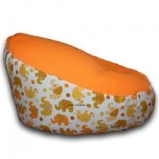 Puhasarok Baba Babzsákfotel narancs, mintás