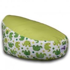 Puhasarok Baba Babzsákfotel zöld, mintás