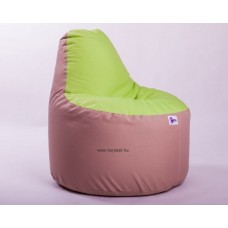 Babzsákfotel Zöld-Drapp színű