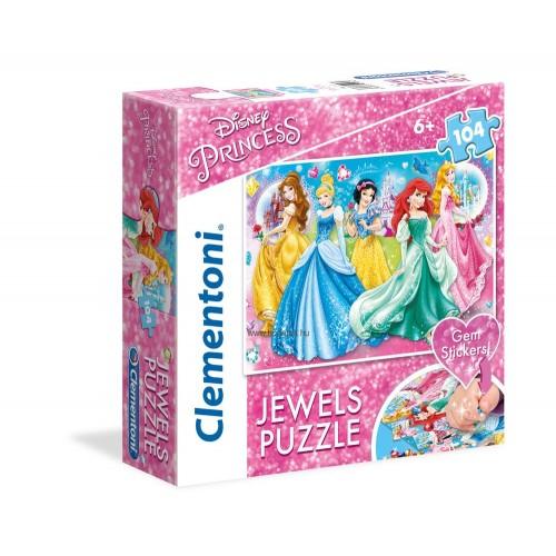 104 db-os SuperColor Ékköves puzzle  - Disney Hercegnők