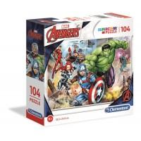 104 db-os SuperColor puzzle  - Marvel, A bosszúállók