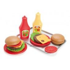 Dantoy Hamburger szett tálcán