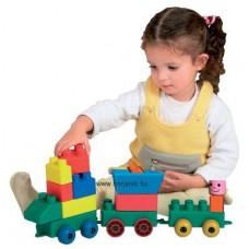 Rugalmas építőkocka - mini vonat