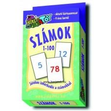 Kártya,számok 1-100,50db - 2oldalas