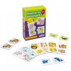 Állatok és kicsinyeik - párosító játék