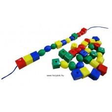 Fűzhető gyöngyök, átmérő: 2,2 cm, 75 db-os készlet