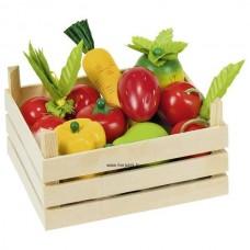 Gyümölcsök és zöldségek rekeszben
