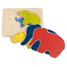 Elefánt - rétegpuzzle