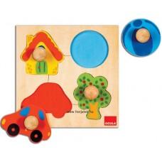 Fogantyús puzzle - Formák-színek