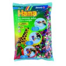 Hama vasalható gyöngy - 3000 db-os vegyes színű Midi