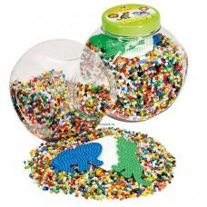 Hama vasalható gyöngy - 15000 db vegyes színű gyöngy 3 alaplappal Midi