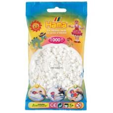 Hama vasalható gyöngy - 1000 db-os fehér színű Midi
