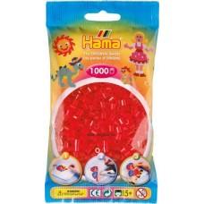 Hama vasalható gyöngy - 1000 db-os átlátszó piros - Midi