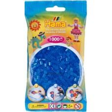 Hama vasalható gyöngy - 1000 db-os átlátszó kék - Midi