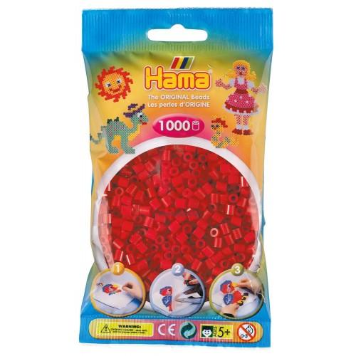 Hama vasalható gyöngy - 1000 db-os piros színű Midi