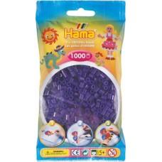 Hama vasalható gyöngy - 1000 db-os átlátszó, sötétlila - Midi