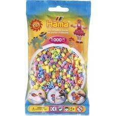 Hama vasalható gyöngy - 1000 db-os vegyes színű pasztell Midi