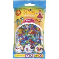 Hama vasalható gyöngy - 1000 db-os csillámos vegyes színű Midi