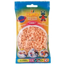 Hama vasalható gyöngy - 1000 db-os világítós rózsaszín Midi