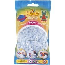 Hama vasalható gyöngy - 1000 db-os világítós kék Midi