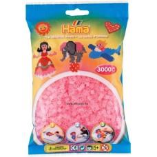 Hama vasalható gyöngy - 1000 db-os átlátszó rózsaszín - Midi