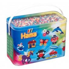 Hama vasalható gyöngy - 30.000 db-os vegyes színű Midi