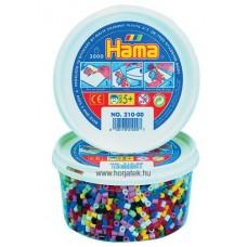 Hama vasalható gyöngy - 3000 db-os vegyes színű Midi, dobozban