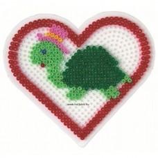 Hama vasalható gyöngyhöz Alaplap Midi - Nagy szív