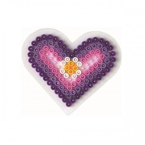 Hama vasalható gyöngyhöz Alaplap Midi - Kis szív