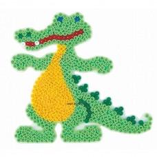 Hama vasalható gyöngyhöz Alaplap Midi - Krokodil