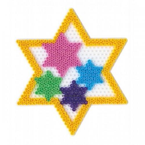 Hama vasalható gyöngyhöz Alaplap Midi - Nagy csillag