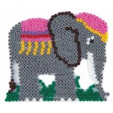 Hama vasalható gyöngyhöz Alaplap Midi - Elefánt
