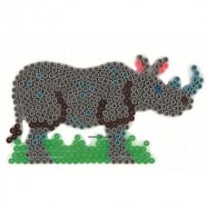 Hama vasalható gyöngyhöz Alaplap Midi - Orrszarvú
