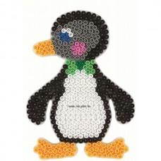 Hama vasalható gyöngyhöz Alaplap Midi - Pingvin