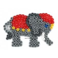 Hama vasalható gyöngyhöz Alaplap Midi - Kis Elefánt