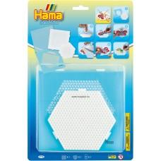 Hama gyöngyrögzítő matrica készlet alaplappal-Midi