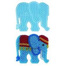Első Hama Alaplapom  MAXI Vasalható Gyöngyhöz - Elefánt (MAXI átlátszó alaplap)