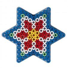 Első Hama Alaplapom  MAXI Vasalható Gyöngyhöz - Csillag (MAXI átlátszó alaplap)