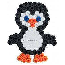 Első Hama Alaplapom  MAXI Vasalható Gyöngyhöz - Pingvin (MAXI átlátszó alaplap)